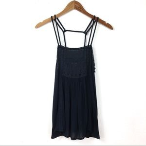 American Eagle Outfitters | Braided Lace Bib Tank